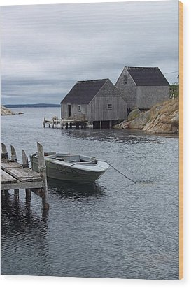 Wood Print featuring the photograph Peggys Cove Canada by Richard Bryce and Family