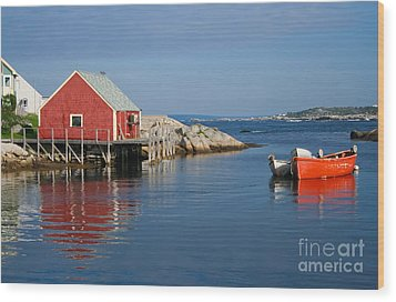 Peggys Cove Wood Print by Thomas Marchessault
