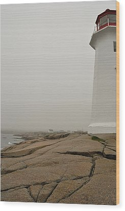 Peggy's Lighthouse Wood Print by Mark Highfield