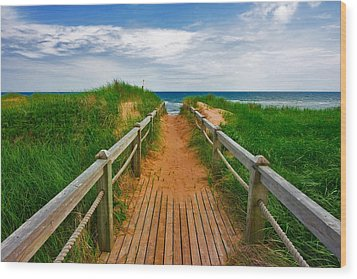 Pei Beach Boardwalk 2 Wood Print