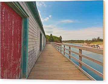 Pei Beach Boardwalk Wood Print