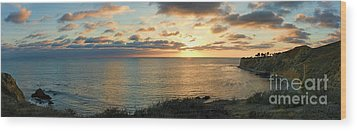 Wood Print featuring the photograph Pelican Cove Park Panorama by Eddie Yerkish