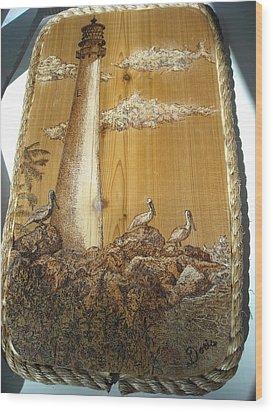 Pelicans At Key Biscayne Wood Print by Doris Lindsey