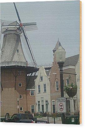 Pella Iowa Windmill Wood Print