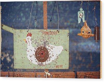 Pellet Gun Targets 3 Wood Print