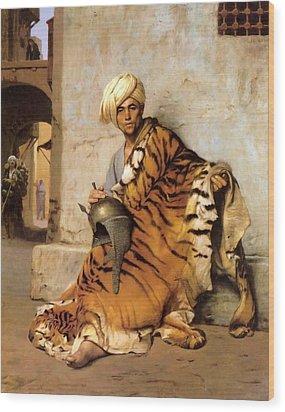 Pelt Merchant Of Cairo - 1869 Wood Print by Jean-Leon Gerome