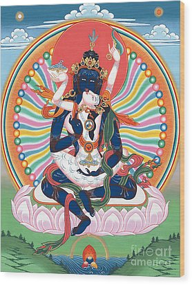 Pema Heruka Guhya Jnana Dakini Wood Print