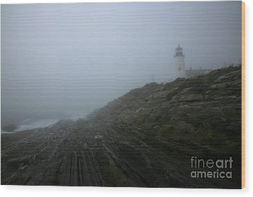 Pemaquid And The Sea Wood Print by Timothy Johnson