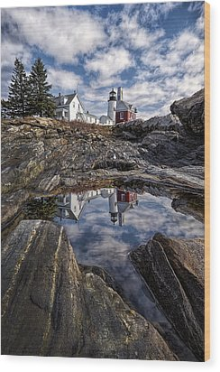 Wood Print featuring the photograph Pemaquid Reflected by Jaki Miller