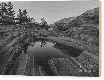 Pemaquid Reflecting Wood Print