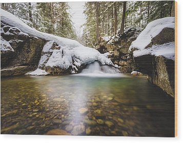 Wood Print featuring the photograph Pemigewasset River by Robert Clifford