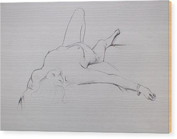 Wood Print featuring the drawing Pencil Sketch 10.2010 by Mira Cooke