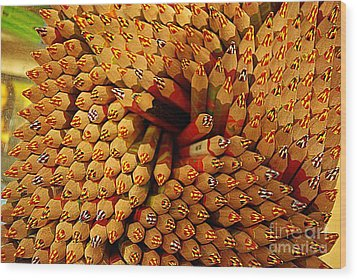 Pencils Pencils Everywhere Pencils Get The Point...lol Wood Print by John S