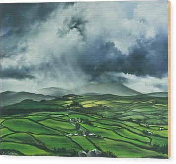 Pendle Hill. Lancashire.england. Wood Print by Jan Farthing