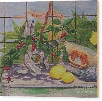 Penelope Wood Print by Janet Summers-Tembeli