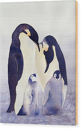 Penguin Family Wood Print