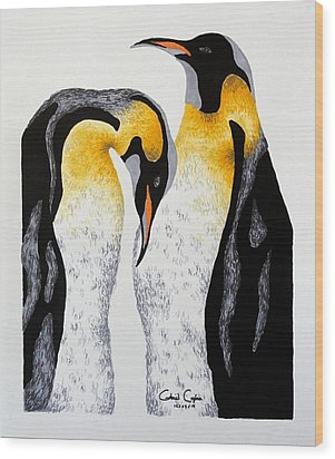 Penguin Wood Print