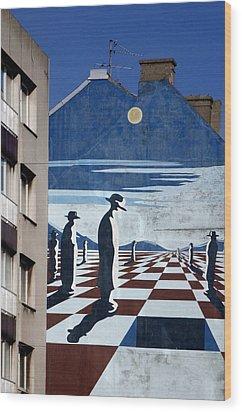 Penguin Men Wood Print by Jez C Self