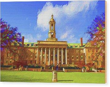Penn State University Wood Print