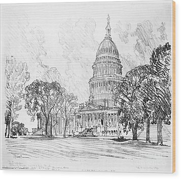 Pennell Capitol, 1912 Wood Print by Granger