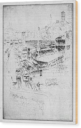 Pennell Polo Grounds 1921 Wood Print by Granger