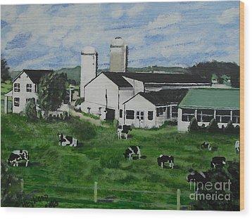 Pennsylvania Holstein Dairy Farm  Wood Print