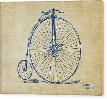 Penny-farthing 1867 High Wheeler Bicycle Vintage Wood Print