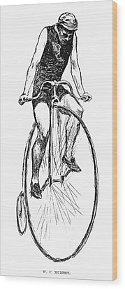 Penny Farthing Bicycle Wood Print by Granger