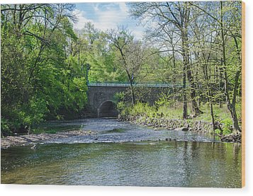 Wood Print featuring the photograph Pennypack Creek Bridge Built 1697 by Bill Cannon