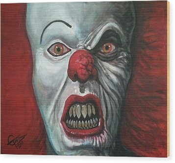 Pennywise Wood Print by Tom Carlton