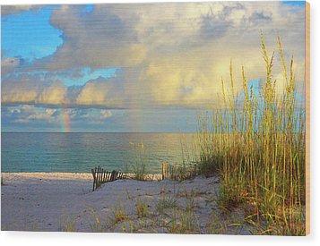 Pensacola Rainbow At Sunset Wood Print