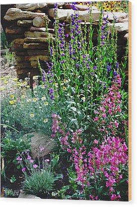 Wood Print featuring the photograph Penstemon Garden by P Maure Bausch