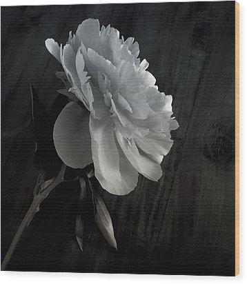 Peonie Wood Print by Sharon Jones
