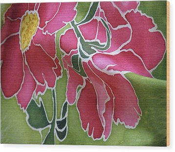 Peonies In The Garden Wood Print by Joanna White