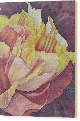 Peony Pattern Wood Print by Carolyn Rosenberger