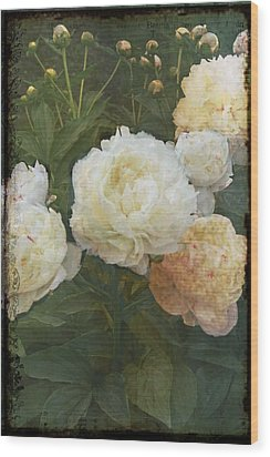 Peony Wood Print by Rosemary Aubut