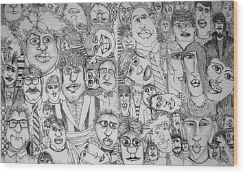 People People People Wood Print by Michelle Calkins