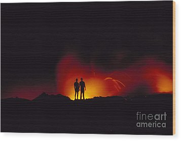 People View Lava Wood Print by Ron Dahlquist - Printscapes