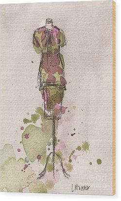 Peplum Dress Wood Print by Lauren Maurer