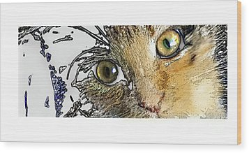 Pepper Eyes Wood Print