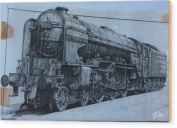 Wood Print featuring the mixed media Peppercorn A2 Pacific by Mike Jeffries