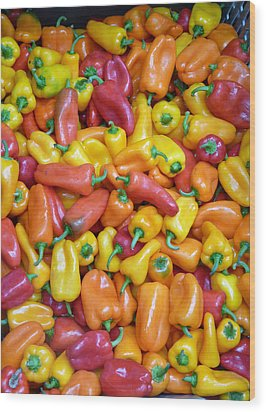 Peppers Wood Print by David Bearden