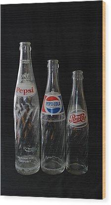 Pepsi Cola Bottles Wood Print