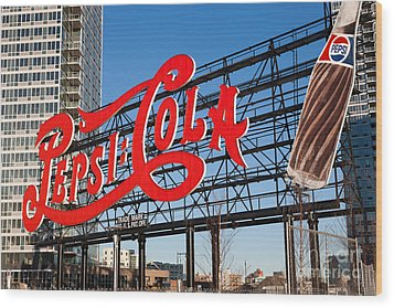 Pepsi-cola Sign I Wood Print