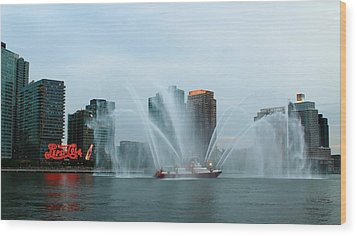 Pepsi Sign And Fdny  Wood Print by Catie Canetti