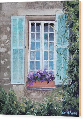 Perched Purples Wood Print by Jeanne Rosier Smith