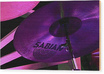 Wood Print featuring the photograph Percussion by Lori Seaman