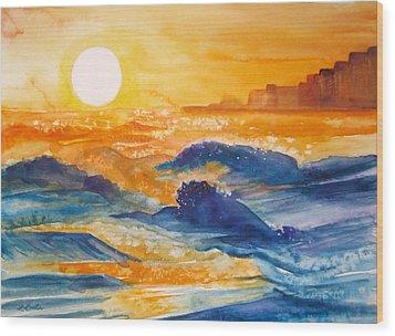 Perdido Key Sunset Wood Print by L Lauter