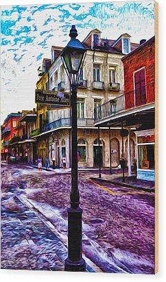 Pere Antoine Alley - New Orleans Wood Print by Bill Cannon