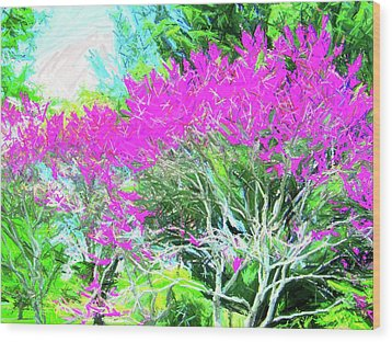 Wood Print featuring the photograph Perennial Garden by Susan Carella